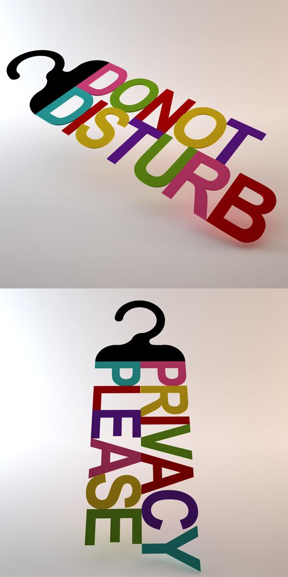 Door Handle Signs - 3DOcean Item for Sale