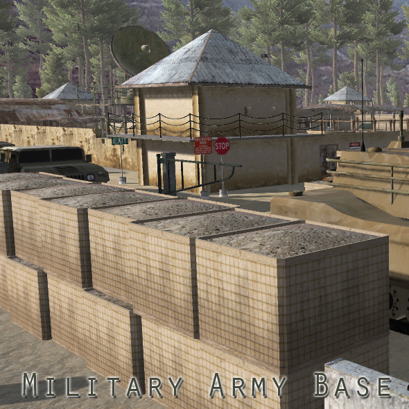 Military Army Base - 3DOcean Item for Sale