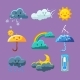 Childish Weather Icon Set