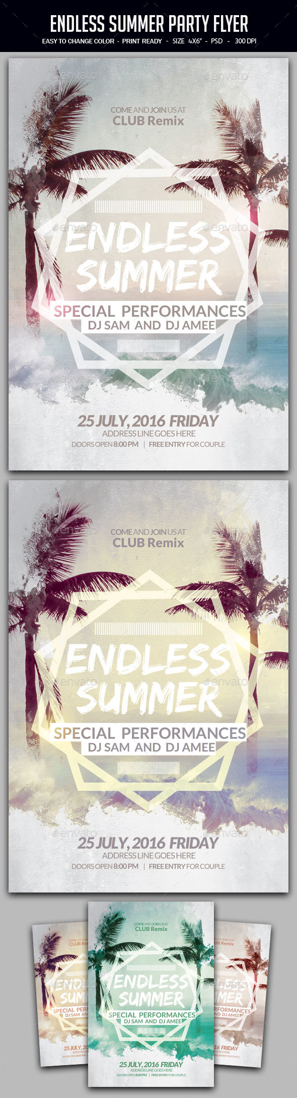 Endless Summer Party Flyer