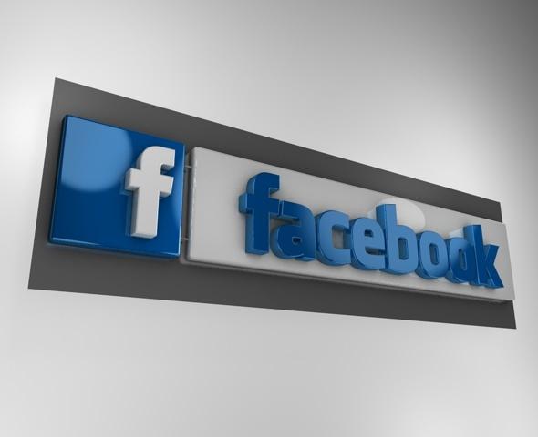 3DOcean 3D Facebook logo 1574932