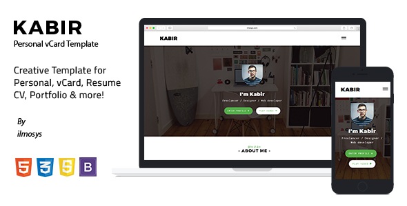Kabir - Personal vCard Template