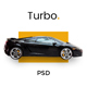 Turbo - Car Rental PSD Template