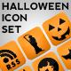 Glossy Halloween Icon Set