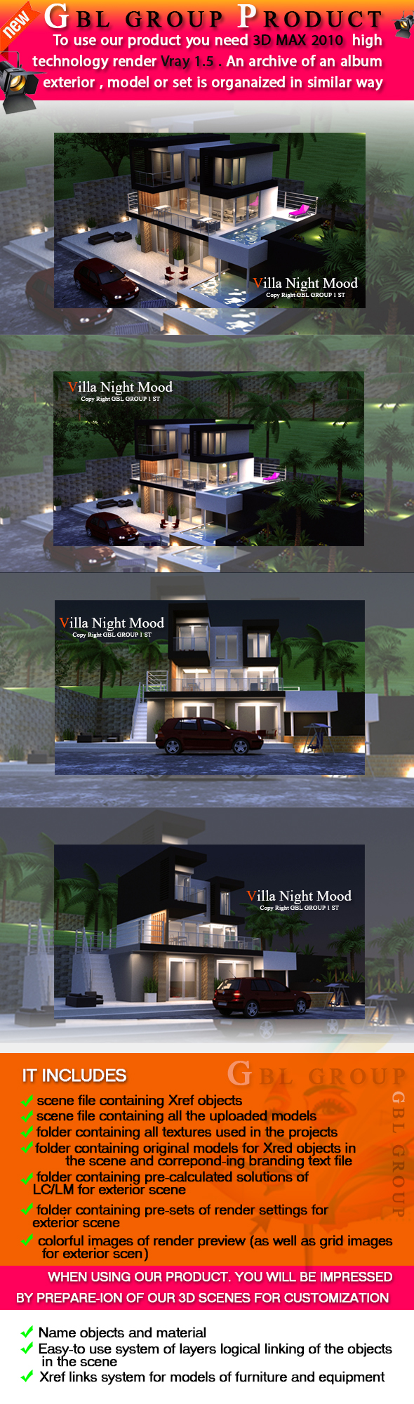 3DOcean Creative Night Mood Villa 15752359