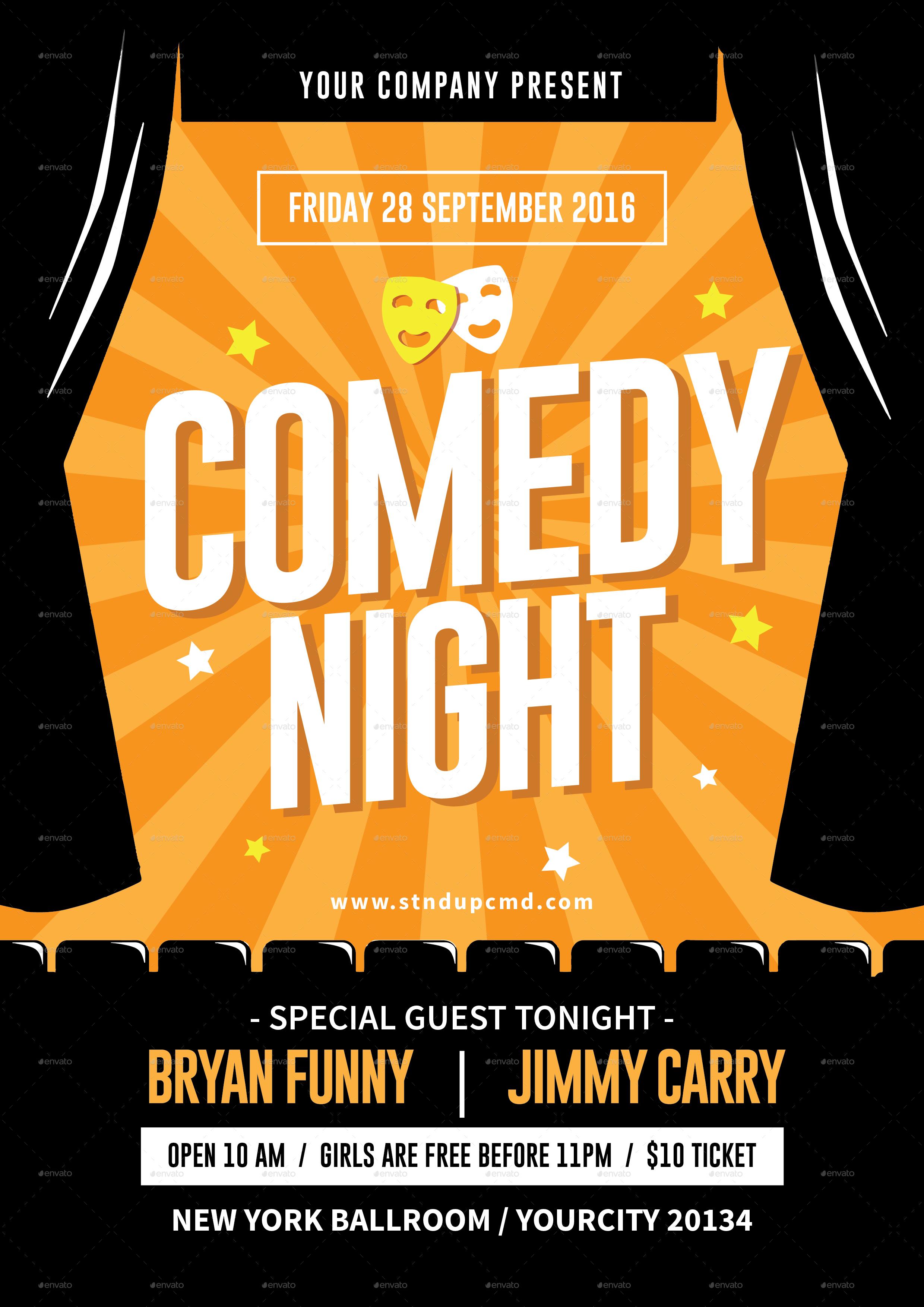 comedy night flyer by tokosatsu graphicriver