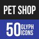 Pet Shop Glyph Icons