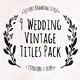 Wedding Jittery Titles