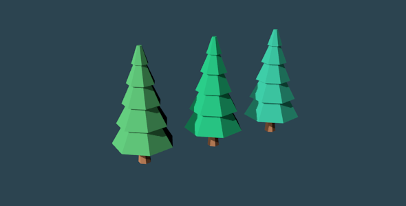 Low Poly Trees Set No. 2 - 3DOcean Item for Sale