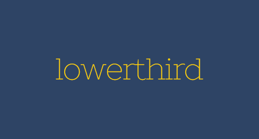Lowerthird