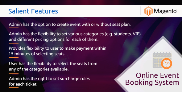 Download MageBooking - Online Event Booking System