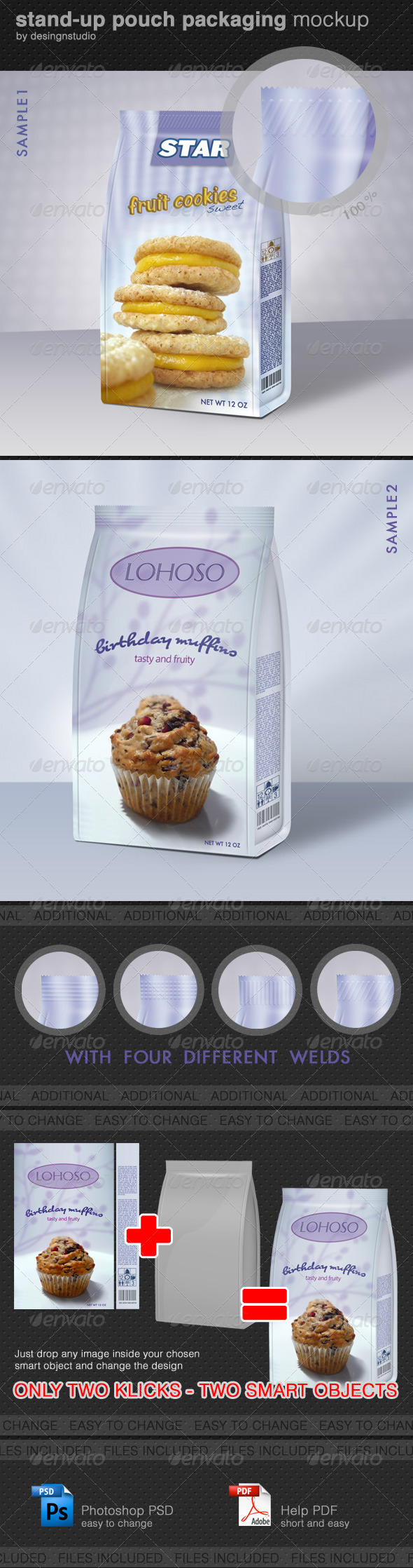 GraphicRiver Stand-Up Pouch Packaging Mock-Up 1576440