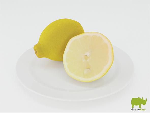 Lemons 3D Model - 3DOcean Item for Sale