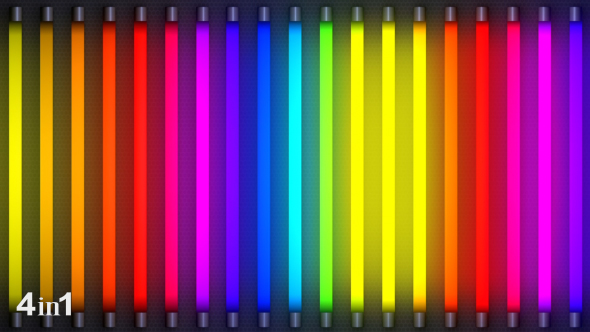 VideoHive Colorful Neon Light Flashing 4-Pack 15771795