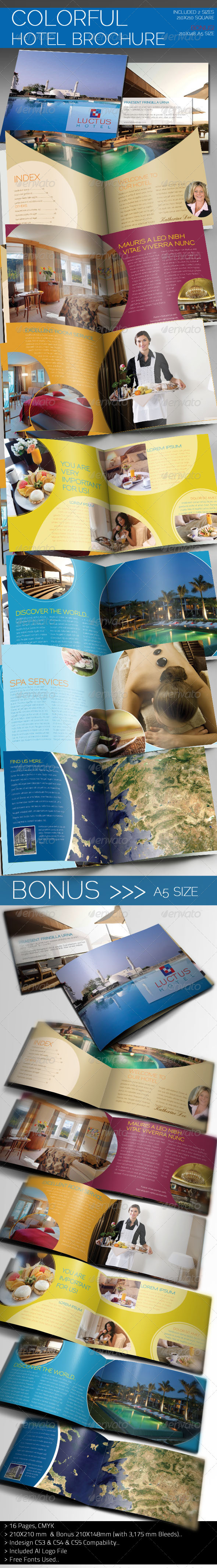 GraphicRiver Colorful Hotel Brochure 1577120