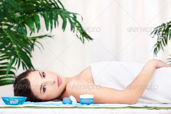 girl in spa salon - Stock Photo - Images