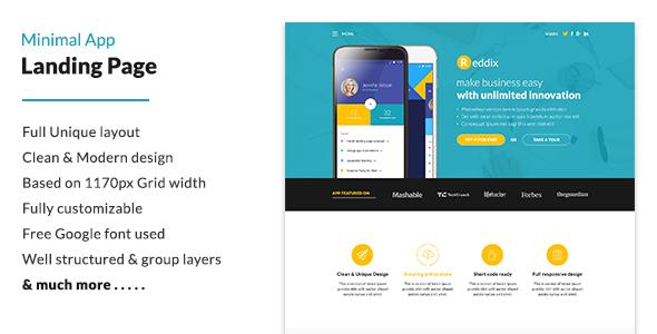 Minimal App Landing Page