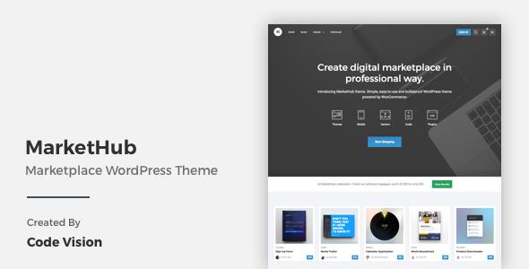 MarketHub – Marketplace WordPress Theme (WooCommerce) Download