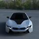 BMW i8 White HDRI