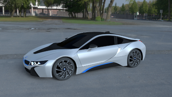 BMW i8 White HDRI - 3DOcean Item for Sale