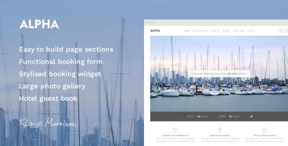 Alpha Hotel - Website Template