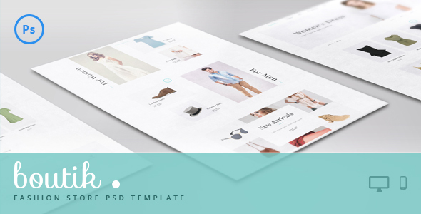 Boutik - Fashion Store PSD Template