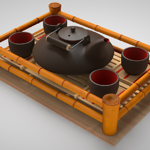 Set for tea ceremony - 3DOcean Item for Sale