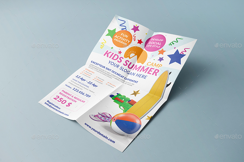 Kids Summer Camp Flyer Template by wutip2 – Camp Flyer Template