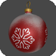 Low Poly Christmas Red Ball