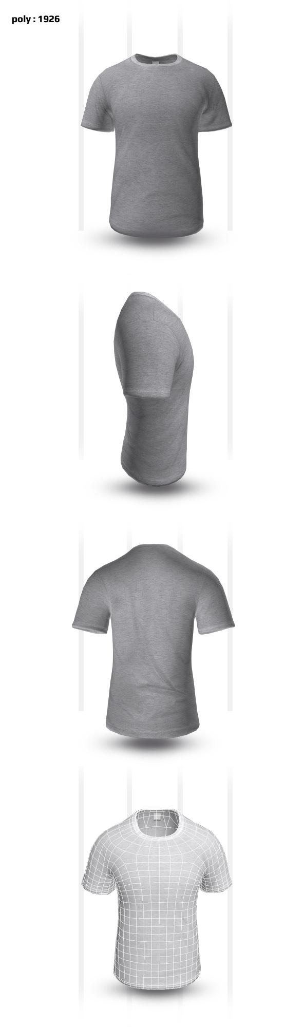 T- Shirt - 3DOcean Item for Sale