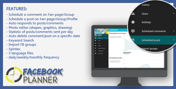 Facebook Planner - CodeCanyon Item for Sale