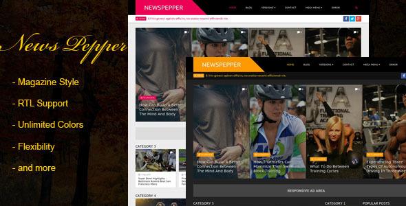 NewsPepper - Responsive Blogger Magazine