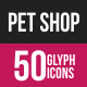 Pet Shop Glyph Inverted Icons