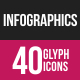 Infographics Glyph Inverted Icons