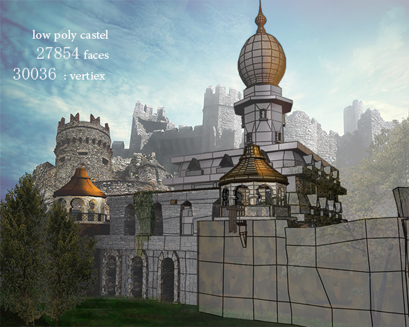 Low Poly Castel - 3DOcean Item for Sale