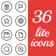 36 lite icons for web