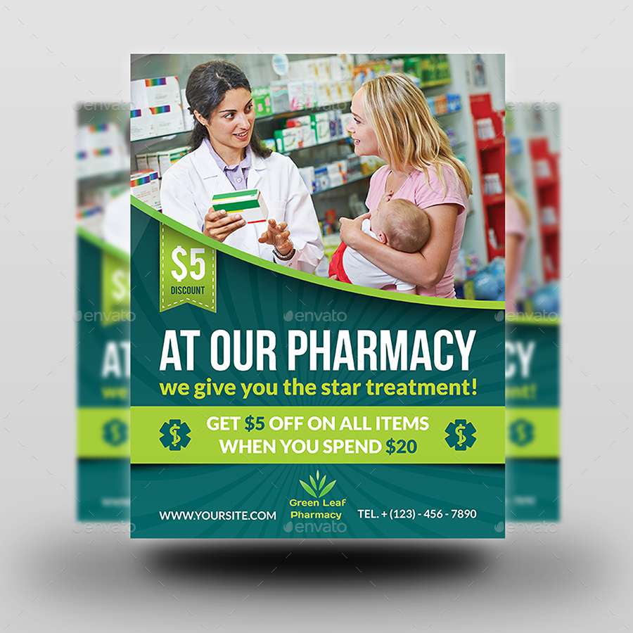 Pharmacy advertising bundle by owpictures graphicriver for Pharmacy brochure template