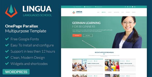 Download Lingua WordPress Version - Responsive Multipurpose Template  nulled download