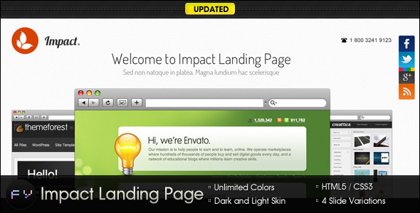 Impact Landing Page - Clean and Minimal