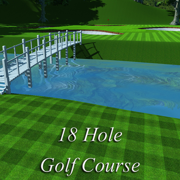 3DOcean 18 Hole Golf Course 15788080