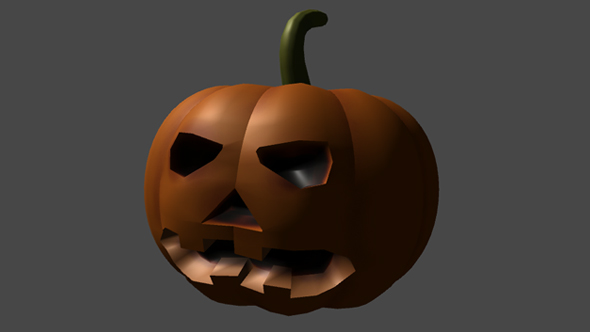 Halloween Pumpkin for Game - 3DOcean Item for Sale