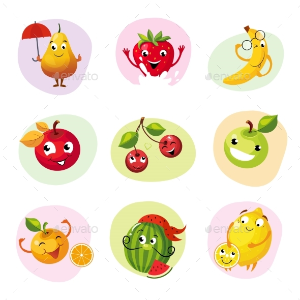 Fruit Caracters Set