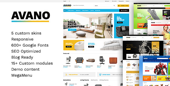 Download Avano - Premium OpenCart Template nulled download
