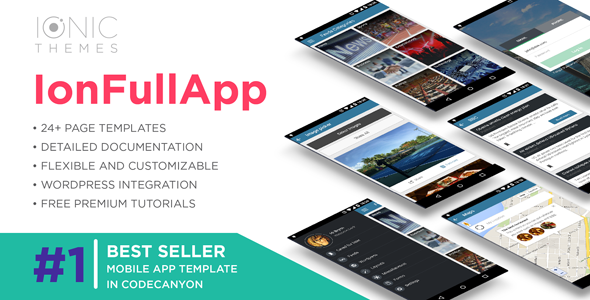 IonFullApp | Full Ionic Template + Cordova Plugins - CodeCanyon Item for Sale