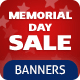 Memorial Day Banners Set
