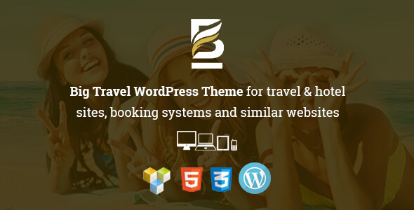 Big Travel Responsive WordPress Theme for Travel & Resort Sites