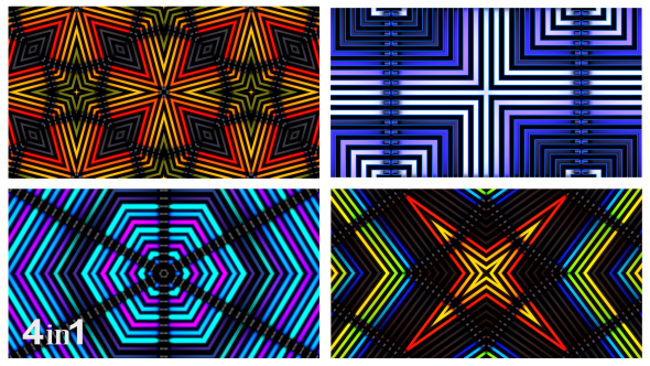 VideoHive Neon Light Flashing Abstract 4-Pack 15793555