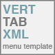 Vertical Tab XML Menu Template - ActiveDen Item for Sale