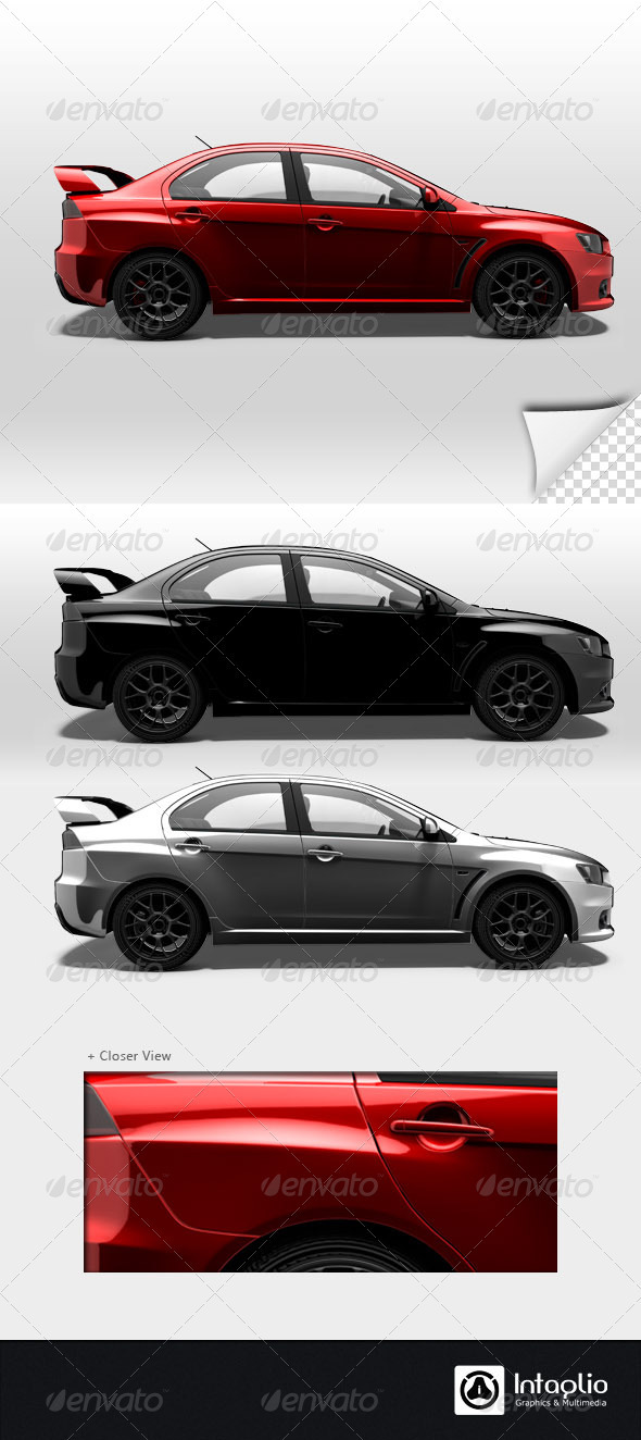 GraphicRiver Red Rally Car Render 002 1578744