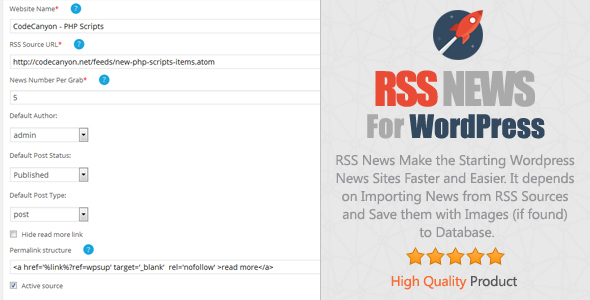 Download RSS News Plugin for WordPress nulled download